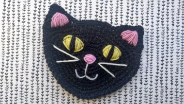 crochet cat face