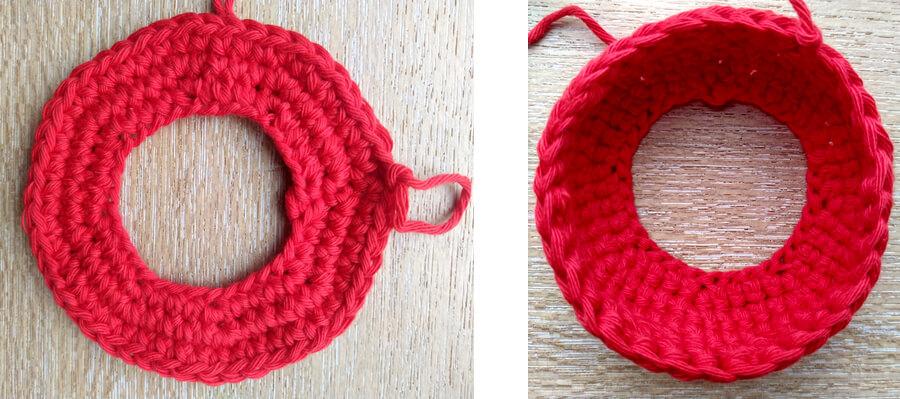 Circle ring crochet shape work in progress