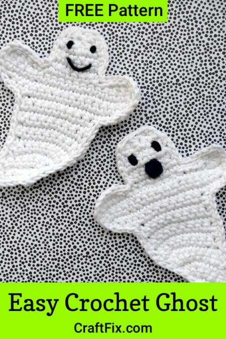 Free Halloween ghost crochet pattern