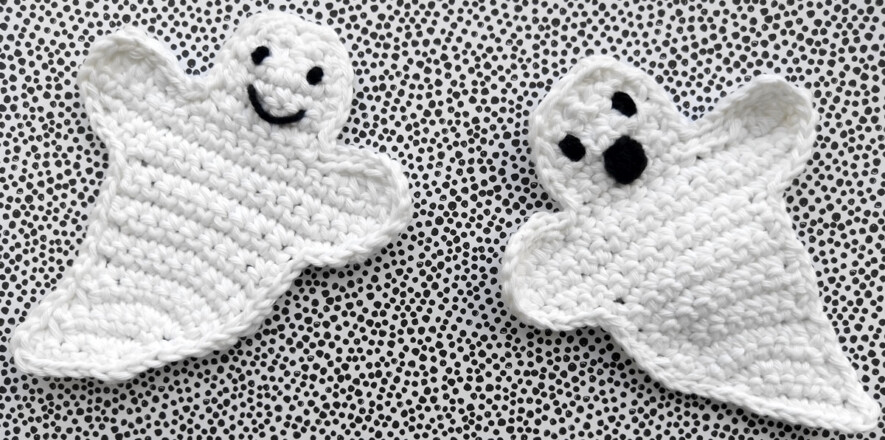 crochet cotton ghosts