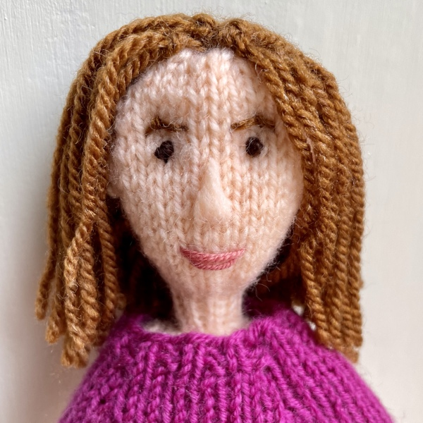 Knitted doll self portrait