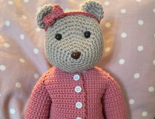 Nancy Bear from Cute Crocheted Animals book