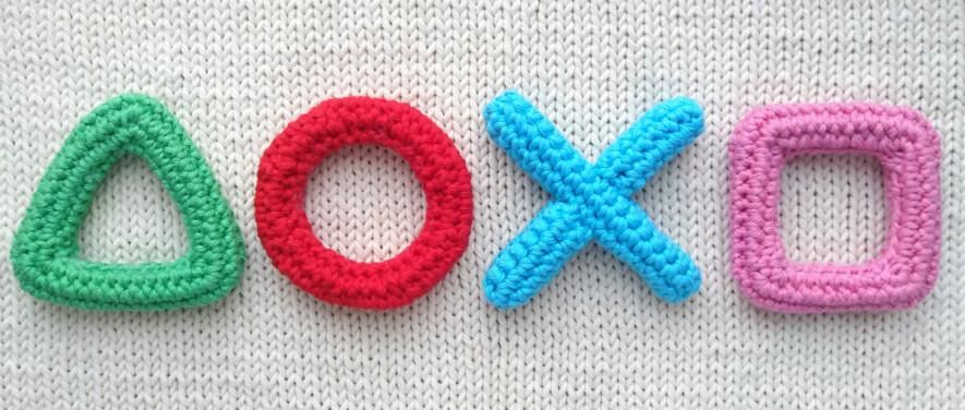 crochet playstation icons