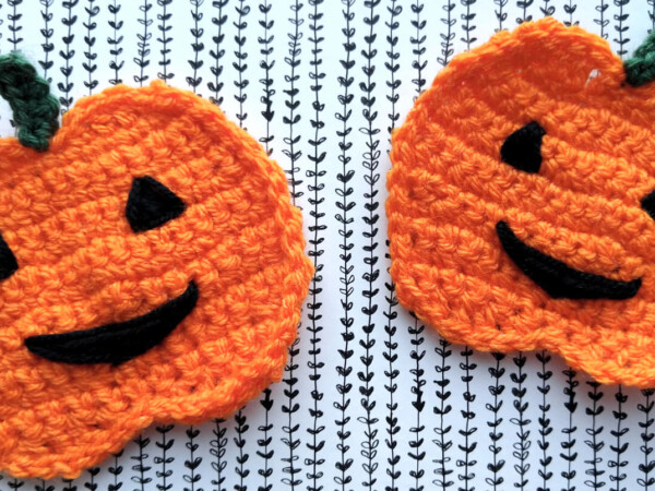 Halloween pumpkins crochet applique