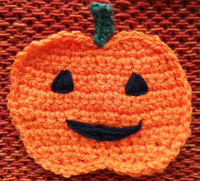 Close up of pumpkin face