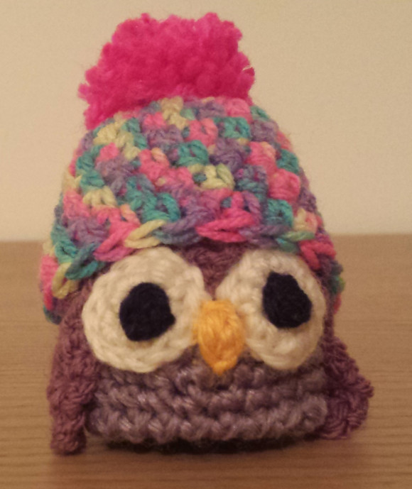 The Big Knit crochet owl hat