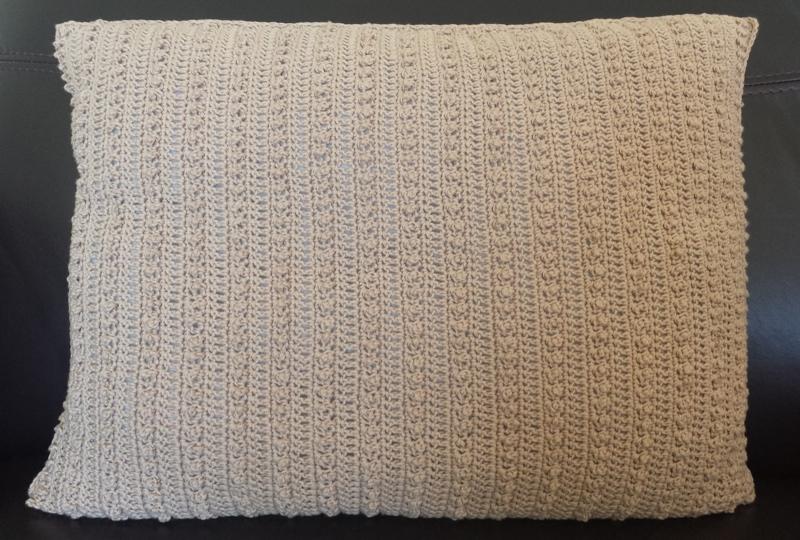 Subtle textured crochet cushion cover
