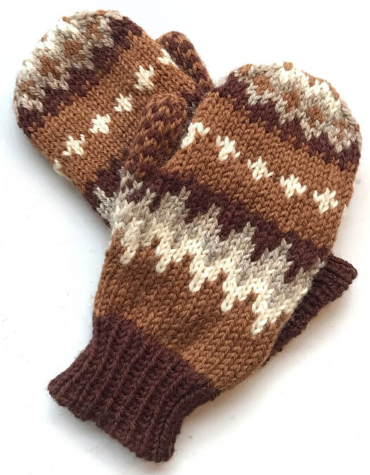 Uncle Bernie's mittens knitting pattern by Alice Glass