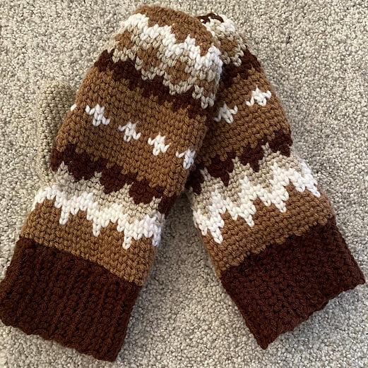 Bernie's Mittens free crochet pattern by B Watkins